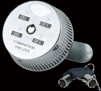 combination cam lock with key